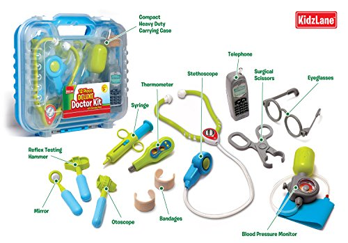 Durable Kids Doctor Kit with Electronic Stethoscope and 12 ...