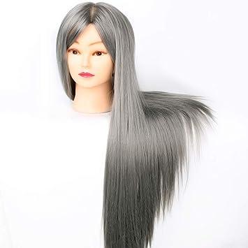 Tfmox Trainingsköpfe 2870 Cm Grau Lange Haare