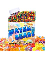 YNH 50000 PCS Colorful Water Beads, Gel Soil Beads Non Toxic Sensory Water Balls for Plants Vases Kids Foot Spa Party Home Decoration