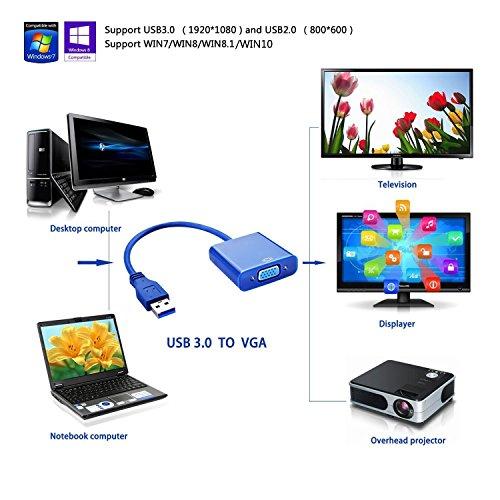 USB 3.0 to VGA Female Converter Set of 2 - 1