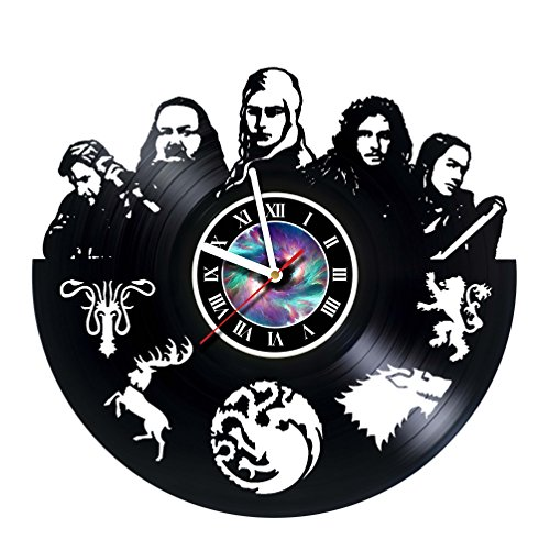 StepArtHouse Game of The Thrones - Movie Character - Vinyl Clock, Wall Decor, Home Art Decoration, Modern Art, Gift Idea for Man and Woman, Vintage Vinyl Record, Home Décor - Unique Art Design -