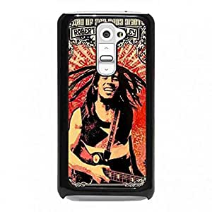 Bob Marly Phone Cover,LG G2 Phone Cover,Hard Cover,Jamaican Singer-Songwriter Phone Cover
