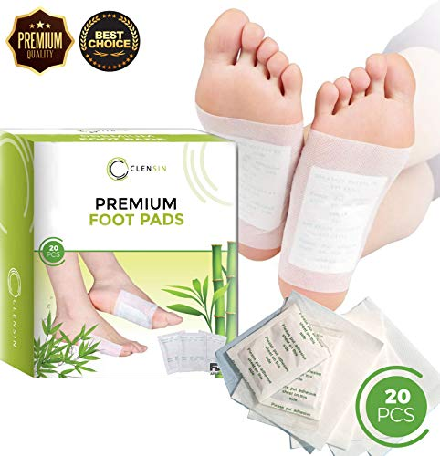 Foot Pads - Premium Quality Patch, Foot Care, Relieve Stress and Pain with Natural Organic Foot Pads, Improve Sleep, Health, with Plant Aromatherapy. [20 pcs] by Clensin