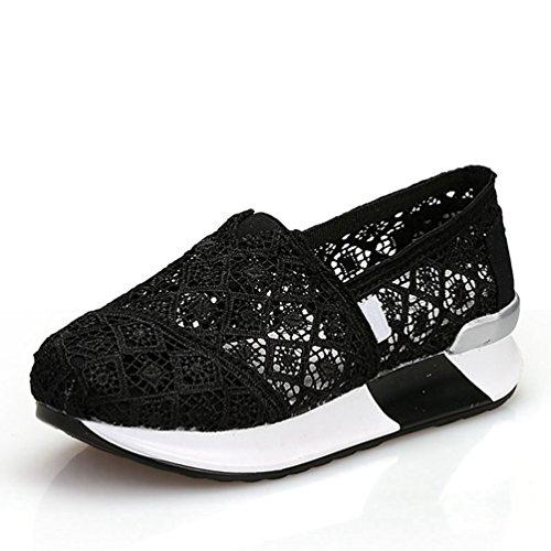 de Negro JITIAN Running Zapatillas de Lona Mujer YY1RPt