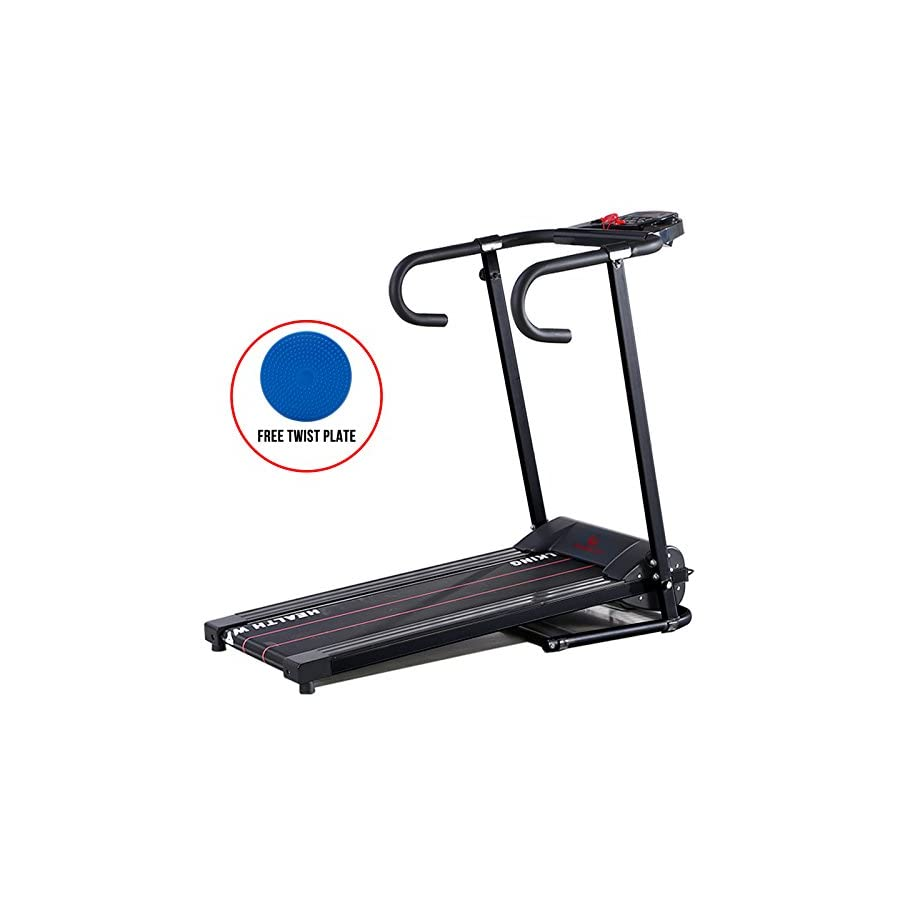 H.B.S 1100W LED Electric Motorized Treadmill Portable Folding Running Gym Fitness Machine