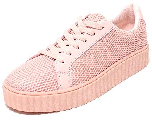 FASHION Mädchen Damen Sneaker Plateau Schuhe CANDY ROSE Gr.38-41