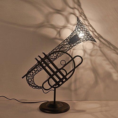 Cgjdzmd Metal Retro Loft Decorative Table Lamp High Brightness E27 Light Source Creative antique industrial wind restaurant cafe Desk lights Height: 54CM 110V-240V ()