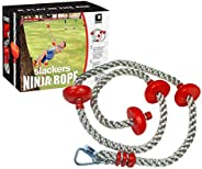 b4Adventure NinjaLine Ninja Climbing Rope with Foot Holds, Assorted Color, 8&