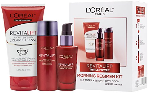 - L'Oréal Paris Revitalift Cleanser, Serum, Day Lotion Gift Set