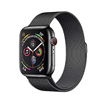 Apple Watch Series 4 - Reloj Inteligente (GPS + Cellular) con Caja de 40 mm de Aluminio en Gris Espacial y Correa Loop Deportiva Negra: Amazon.es