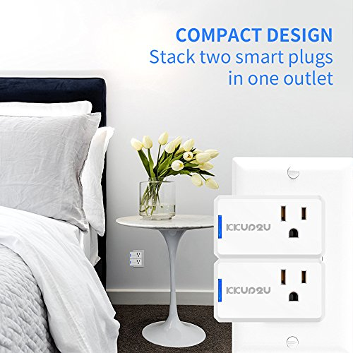 Smart Plug 4-Pack Upgraded Mini WiFi Smart Socket Outlet Work with Amazon Alexa Echo/Google Assistant and IFTTT, No Hub Required by KKUP2U by KKUP2U (Image #2)