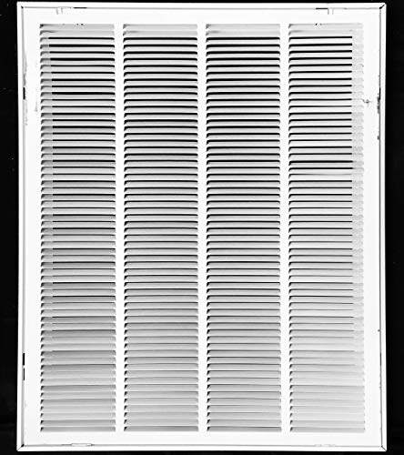 24 X 36 Steel Return Air Filter Grille For 1 Filter Removable Face Door Hvac Duct Cover Flat Stamped Face White Outer Dimensions 26 5 X 37 75
