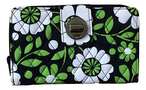 Vera Bradley Turnlock Wallet (Lucky You with Navy Interior)