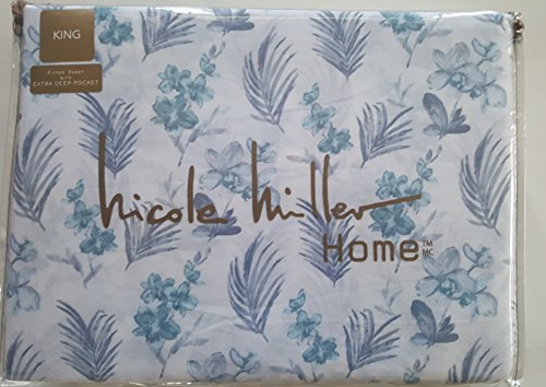 Nicole Miller Queen Sheet Set Floral Orchids 4 Pc Botancial Garden