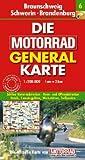 Motorrad Generalkarte Deutschland Braunschweig, Schwerin, Brandenburg 1:200 000