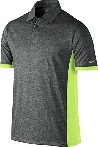 Nike Golf Victory Block Polo BLACK/HTR/VOLT/WOLF GREY L