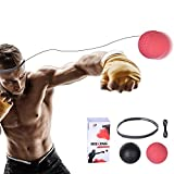 Boxing Reflex Fighting Punching Ball,Boxing Trainer Ball,Boxing Exercise Reaction Balls for Novice and Veteran Speed Training Pack of 2 Balls with Premium Silicone Head Band