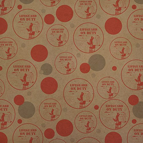 Lifeguard On Duty Premium Kraft Gift Wrap Wrapping Paper (Lifeguard Roll)