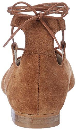 Marc Shoes Women's Pisa Closed Toe Ballet Flats Brown (Braun 00246) z0dMUaB