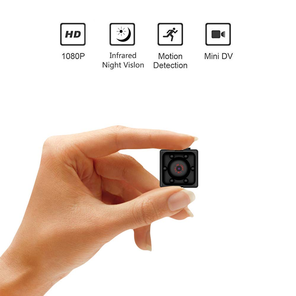 Mini Wireless Hidden spy Camera,Full HD 1080P Portable Small HD Nanny cam with Night Vision,Video Record and Motion Detection for Home, Car, Drone, Office and Outdoor Use by HONGSEOK