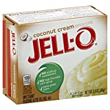 Jello Instant Coconut Pudding, 3.4 Ounce - 24 Case