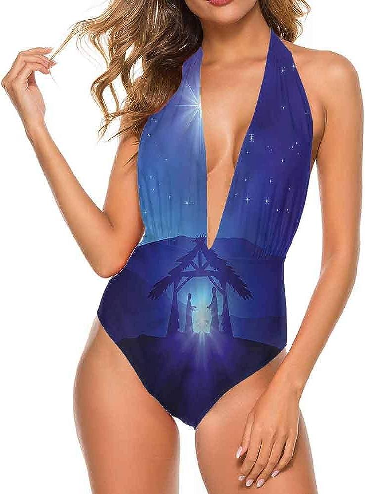 Adorise Superbe maillot de bain indigo, motif marguerite, idéal pour une fête en piscine. Multi 20