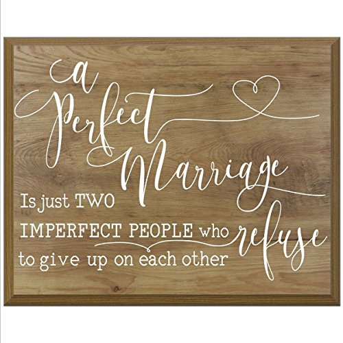 A Perfect Marriage Family wedding anniversary Housewarming Gift for husband wife Parents, New Home Christian gift ideas 12 Inches w X 15 Inches By Dayspring Milestones (Pine)