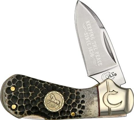 Amazon.com: Colt Perdigones Hueso Cub Lockback Cuchillo ...