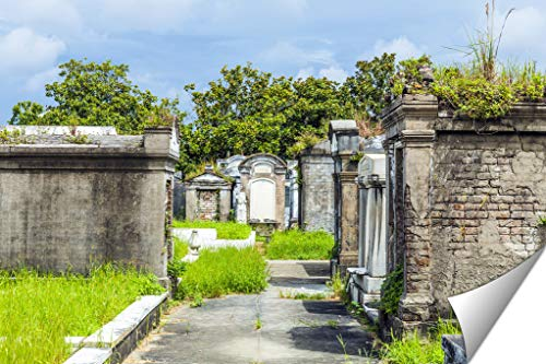 (Ashley Giclee Fine Art Print, Lafayette Cemetery in New Orleans with Historic Grave Stones, 16x20,)
