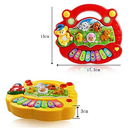 Rokoo Baby musique /éducation piano animal d/éveloppement de la ferme jouets cadeaux