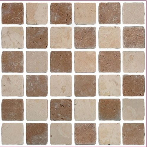 Waterproof Mosaic Tile Stickers Transfers Travertine Stone Kitchen Bathroom UK