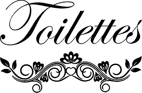 CreativeSignsnDesigns Toilettes French Bathroom Door Vinyl Decal -Black by CreativeSignsnDesigns