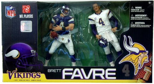 McFarlane Toys NFL Sports Picks Exclusive Action Figure 2Pack Boxed Set Brett Favre (Minnesota Vikings) Home Away Jerseys