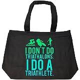 I Dont Do Triathlons I Do A Triathlete Running Biking Swim - Tote Bag With Zip
