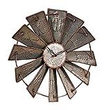 Metal Windmill Wall Clock For Sale