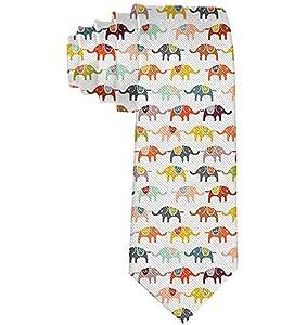 Corbata de seda de elefante de dibujos animados unisex para hombre ...