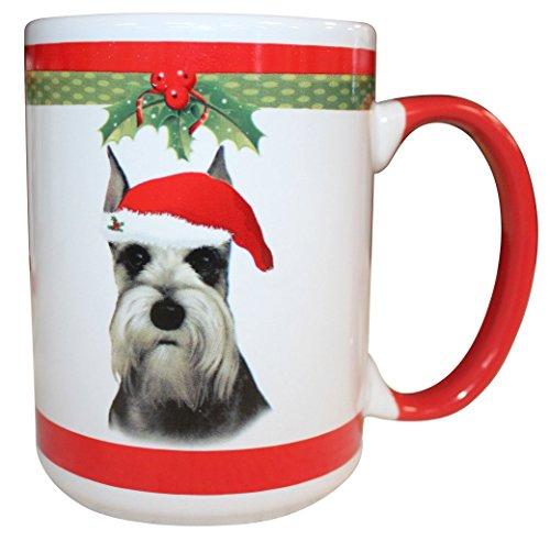 E&S Pets Schnauzer Cropped Mug, 15 oz (Schnauzer Cropped)
