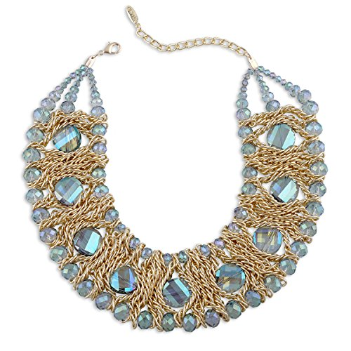 KAYMEN Women's Choker Crystal Necklace Handmade Statement Fashion Bohemian Necklaces