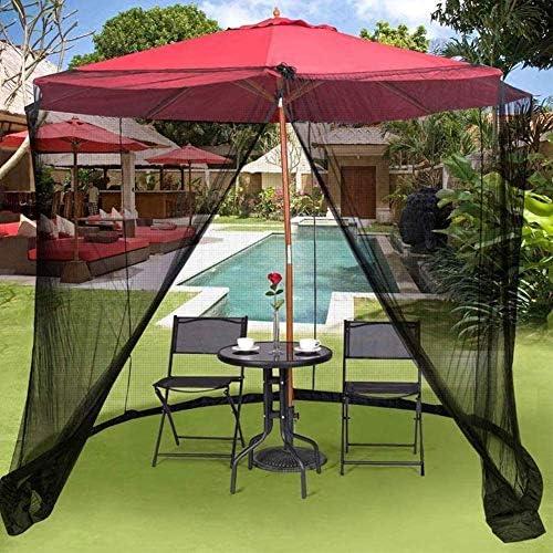 HYLHガーデンモスキートカバー傘テーブルスクリーンガゼボパラソル用屋外パラソルネット
