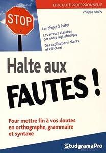 """Afficher """"Halte aux fautes !"""""""