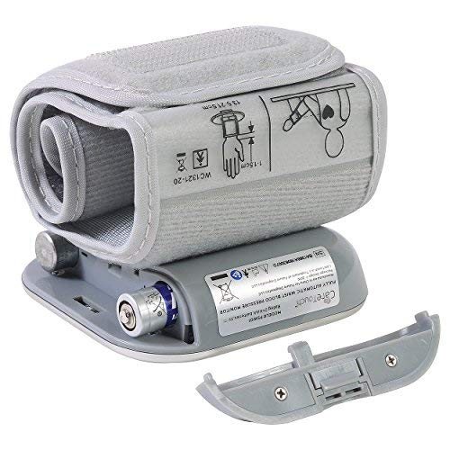 "51lnC8D88sL - Care Touch Fully Automatic Wrist Blood Pressure Cuff Monitor - Platinum Series, 5.5"" - 8.5"" Cuff Size- Batteries Included"
