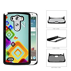 RN Registered Nurse With Teal Back And Colorful Squares LG G3 VS985 Hard Snap on Plastic Cell Phone Case Cover