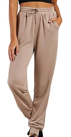 b36b8235c8 YYear Womens High Waisted Drawstring Pockets Sweatpants Jogger Pants 1 S