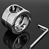 MISSLOVER 1pcs A536 stainless steel scrotum weight-bearing ring cock penis JJ ring, testis restraint 620g weight bearing articles