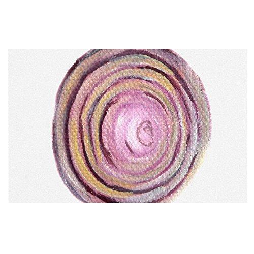 KESS InHouse Theresa Giolzetti Onions  Purple White Dog Place Mat, 13  x 18