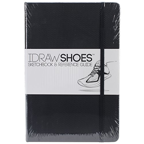 IDRAW Shoes Sketchbook and Reference Guide, Black -