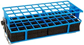 """Barnstead Blue Full Size Test Tube Rack Clamp, 21mm to 25mm, 4"""" x 10"""" Array"""