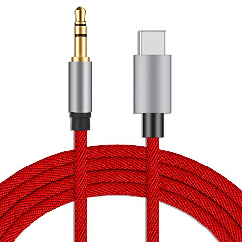 LecLooc USB C to 3.5mm Aux Cable Cord for Google Pixel 4/4XL/3/3 XL/2/2XL, Galaxy Note 10/10+/S20/20+/20 Ultra, OnePlus 6T/7/7Pro/7T,iPad/MacBook Pro, Moto,Xiaomi,Essential PH-1,Huawei
