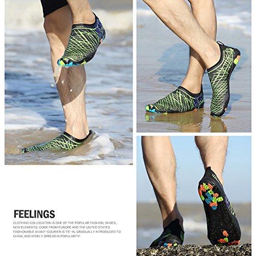 happygo! Hombres Mujeres Zapatos de Agua Unisex Mujer Zapatillas Secado Rápido Transpirable Calzado de natación Yoga Verde