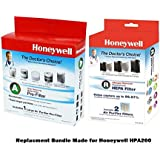 Honeywell Genuine HPA200 Filter Bundle; Made for HPA200